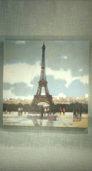 """Eiffel Tower Canvas Wall Art 24""""x24"""" *PICKUP ONLY* home decor, household, pictures, paris for Sale in Mesa, AZ"""