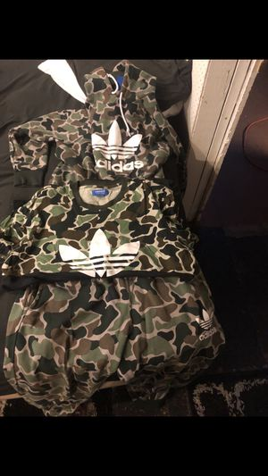 Adidas Camo Hoodie Shirt And Pants for Sale in Royal Oak, MI