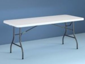New Cosco 8 Foot Centerfold Folding Table, White for Sale in Pasadena, CA