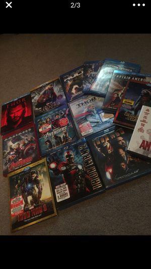 Marvel super hero blu ray lot for Sale in Lakeside, CA