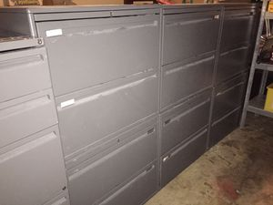 Office metal filing two drawer cabinet for Sale in Dallas, TX