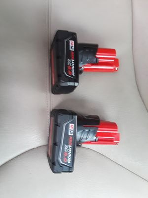 Milwaukee m12 6.0 batteries for Sale in Tacoma, WA