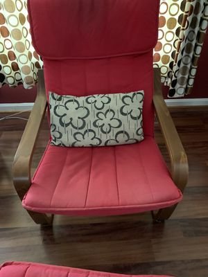 IKEA Poang chair and ottoman for Sale in Germantown, MD