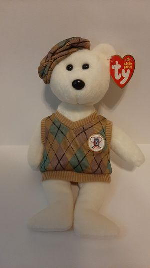 Tour teddy beany baby PGA edition golfer 2005 for Sale in Garland, TX