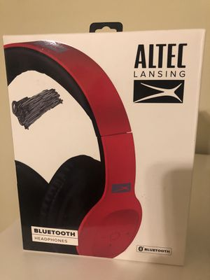 Altec Red Bluetooth Headphones (over ear) for Sale in Land O' Lakes, FL