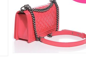 CHANEL Patent Leather Medium Boy Bag Flap Pink for Sale in Annandale, VA