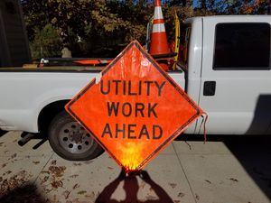 Utility Work Sign for Sale in Chapel Hill, NC
