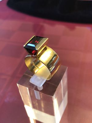 Ring,14k solid skai gold & garnet stone ,8.21 grams, size 6, please look at all pictures for more details for Sale in Naperville, IL
