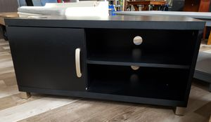 NEW Black 1 Door Storage Mini TV Stand: Black for Sale in Burlington, NJ