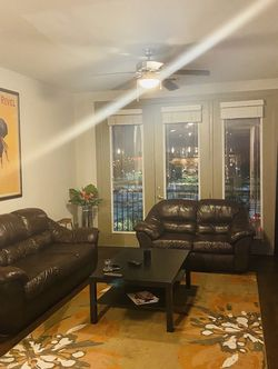 Leather Sofa And Loveseat, Coffe Table, Tv Console / Great Condition for Sale in Beltsville,  MD
