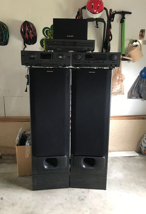 Pionneer speakers, and Philips double cassette deck and audio/video surround receiver, compact disc player cd for Sale in Mexico, MO
