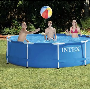 """Intex 10' ftx 30"""" inches Metal Frame Round Above Ground Swimming Pool Set w/ Filter Pump for Sale in Woodbridge Township, NJ"""