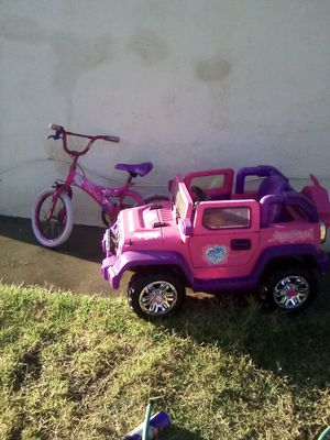 Barbie bike and car for Sale in Los Angeles, CA