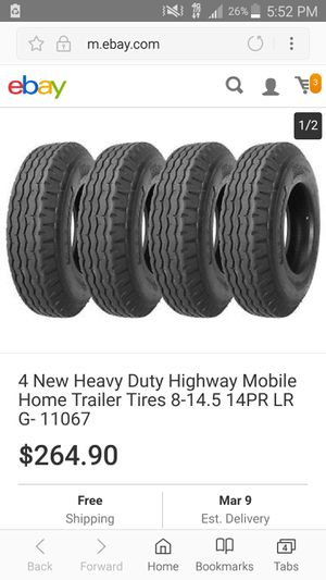 Brand new never installed trailer/ mobile home tires. for Sale in North Wales, PA