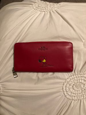 Brand New with Tags Snoopy Coach Wallet for Sale in Tracy, CA