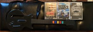 Two WIi guitars and 3 games. for Sale in Barboursville, VA