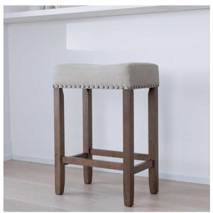 """B123 Wood Pub Height Counter Bar Stool 24"""" Dark Gray Leather Cushion.New for Sale in Austin, TX"""