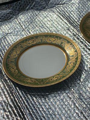 Rare 4 Higgins & Seiter antique Limoges dinner plates, e gold encrusted fine china for Sale in Clermont, FL
