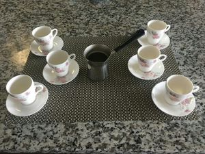 Turkish Coffee 6x Cups and Pots for Sale in Arlington, VA