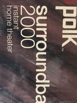 Polk 2000 Sound bar Surround , New Open Box for Sale in Laguna Niguel,  CA