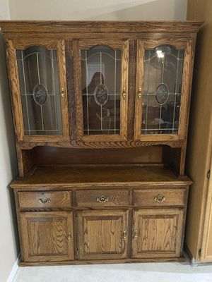 Solid Wood China Cabinet for Sale in Menifee, CA