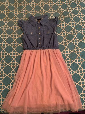 Blue Jean polka dot and pink dress for Sale in Baton Rouge, LA