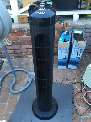 """does not oscillate Cascade Blackstone 40"""" Electric Tower Fan S00001 (TF40-18) 25 Will demonstrate for you all working features before you pay. for Sale in Lemon Grove, CA"""