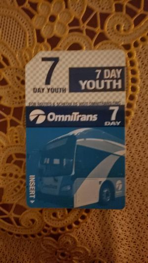 7 days youth bus pass for Sale in Ontario, CA