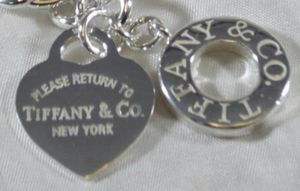 Tiffany & Co. Please Return To Tiffany sterling silver heart toggle necklace for Sale in Austin, TX