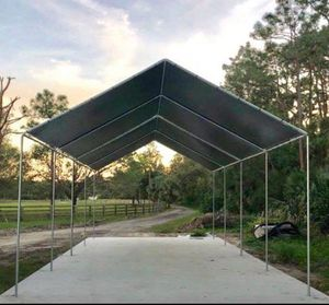 New galvanize steel canopy TENT 20x40 heavy duty Frame and tarp included More size available starting price $385 for Sale in Tampa, FL