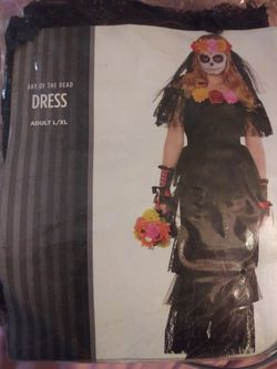 Halloween custom day of the dead dress for Sale in Abilene,  TX
