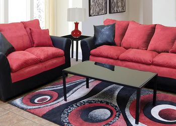 Red And Black Sofa And Loveseat !! Brand New for Sale in Chicago,  IL