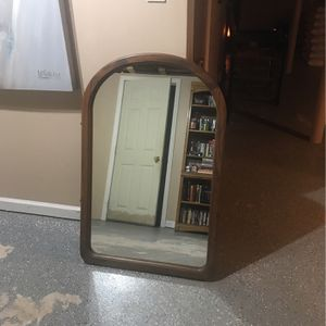 Framed oval mirror401/2x201/2 for Sale in Waterbury, CT