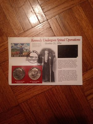 Kennedy half-dollars and stamp1971 memorabilia for Sale in Aberdeen, WA