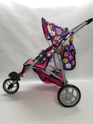 """Fash n Kolor, Double Doll Stroller with Diaper Bag, with Carrying Bag and 2 Magic Bottles Included, H22"""" inch for Sale in Las Vegas, NV"""