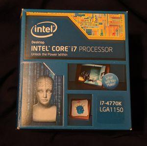 INTEL CORE I7-4770K 3.5 GHZ QUAD-CORE DESKTOP PROCESSOR CPU for Sale in Modesto, CA