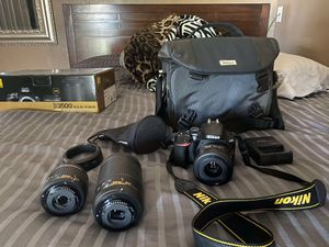 Nikon D3500 camera and lenses for Sale in Bakersfield, CA