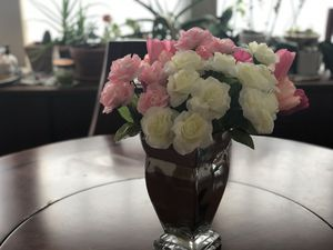 Pink and white artificial flowers (no vase) for Sale in Charlotte, NC