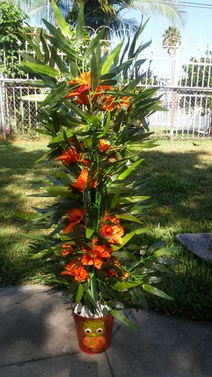 36 Inch Artificial Bamboo Plant with Dahlia's for Sale in Los Angeles, CA