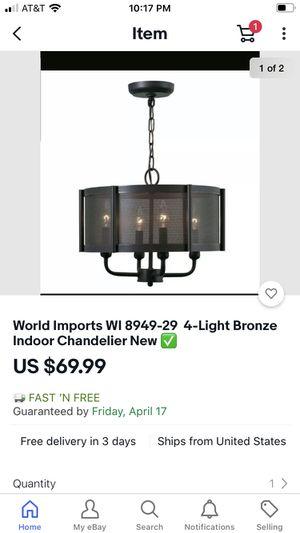 Indoor chandelier 🖤 for Sale in Los Alamitos, CA