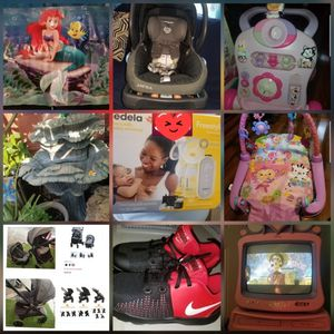 Little Mermaid Poster, Minnie mouse Walker, Playgym, Disney Tv And Stroller for Sale in Cudahy, CA
