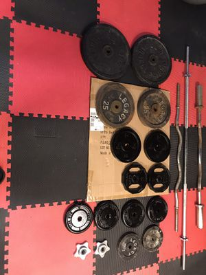 Steel weight plates ($1 per lb) for Sale in Pawtucket, RI