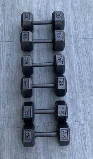 Black Hex Dumbbell Set (25-45) for Sale in Riverside, CA