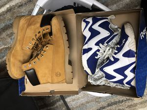 Timberland Boots & Reebok Kamikaze II mid's for Sale in Silver Spring, MD
