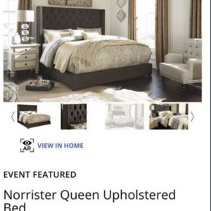 Queen Norrister Upholstered bed for Sale in Hillsboro, OR