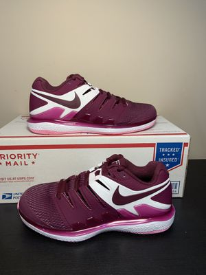 Nike Air Zoom Vapor X Tennis Shoes Bordeaux Pink AA8027-603 Women's Size 7.5 for Sale in South Elgin, IL