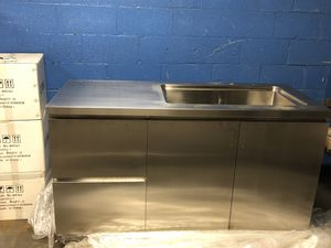 Stemless steel sink/counter cabinet combo for Sale in St. Louis, MO