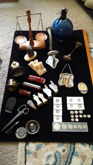 Huge lot antiques cast iron toys silver u.s. currency what you see is what you get for Sale in Toms River, NJ