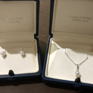 MIKIMOTO 6-6.5mm Akoya Cultured Pearl Necklace & Matching Earrings for Sale in Ashburn, VA