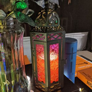 Purple Lantern with Flameless Candle for Sale in Atlanta, GA